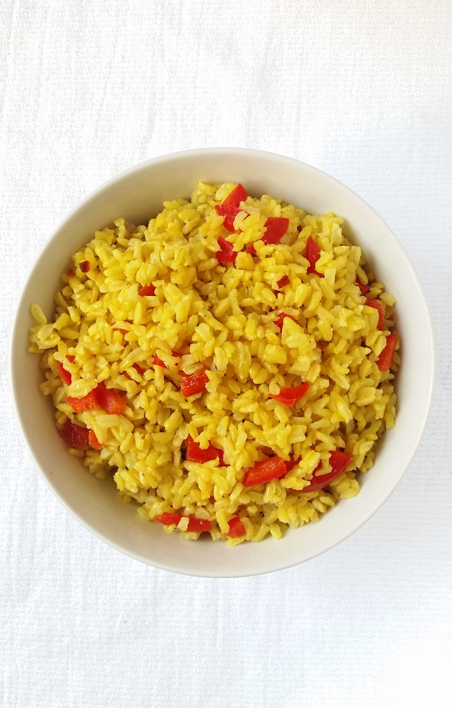 yellow-rice-red-bell-peppers-top-view