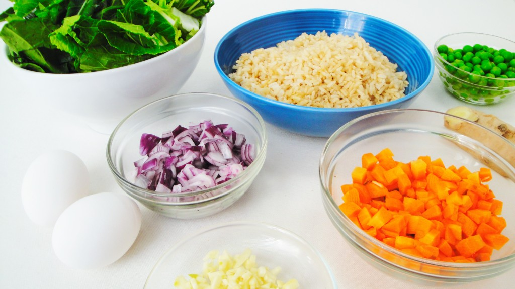 bok-choy-fried-rice-ingredients